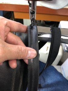 ブーツ8ファスナー交換 縫製180508NT