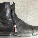 乗馬ブーツ(チェルシータイプ)ブーツ ファスナー交換・ステッチリペア160123RTH