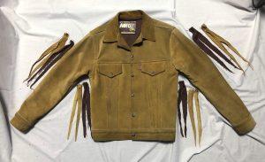 エアロレザースウェードジャケットサイズ直し 完了190521N