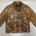 レザーカーコート袖幅リサイズ191026A